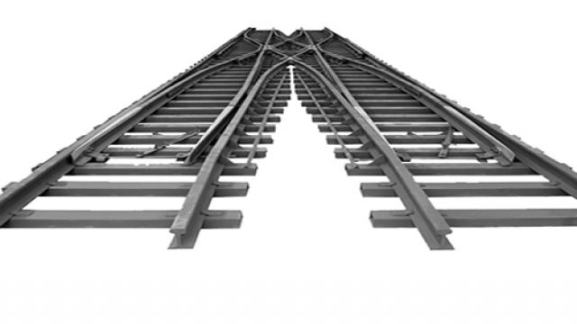 Y-Shaped Rail Turnout